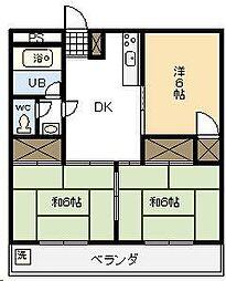 コーポラス川添[305号室]の間取り