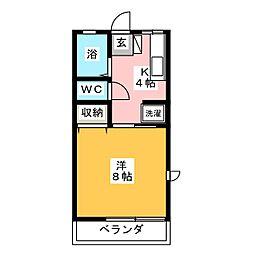 フルール[2階]の間取り