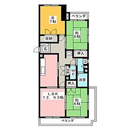 コーポラス慶[3階]の間取り