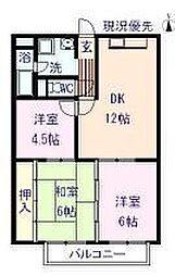 M−3マンション[6階]の間取り
