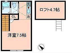 仮称)バーミープレイス平井III[2階]の間取り