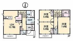 [タウンハウス] 岡山県岡山市北区津島福居2丁目 の賃貸【/】の間取り