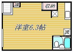 東京都墨田区八広4丁目の賃貸アパートの間取り
