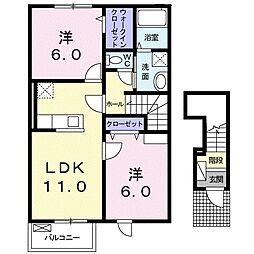 フェリーチェ Ⅱ[2階]の間取り