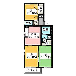 ファミール A[2階]の間取り