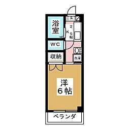 シャンブル21[2階]の間取り