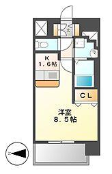 プレサンス丸の内レジデンスII[8階]の間取り