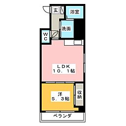 エイトバード東静岡[3階]の間取り
