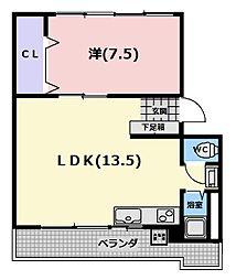 吉川マンションB棟[304号室]の間取り