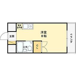 グランディール姫島[309号室]の間取り