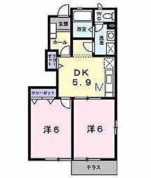 ラシーヌIII 四番館[1階]の間取り