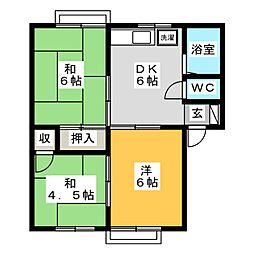 エトワール674[1階]の間取り