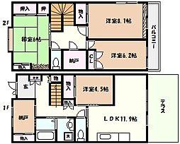 [一戸建] 兵庫県西宮市松園町 の賃貸【/】の間取り