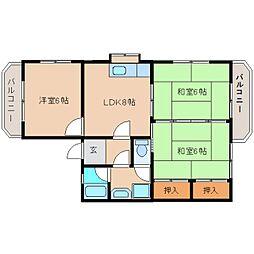 静岡県静岡市清水区高橋の賃貸マンションの間取り