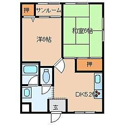 インフィールドハイツ[3階]の間取り