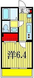 千葉県千葉市花見川区幕張本郷7丁目の賃貸アパートの間取り