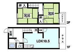 [テラスハウス] 奈良県奈良市横領町 の賃貸【奈良県 / 奈良市】の間取り