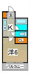 セレーノ並木[4階]の間取り