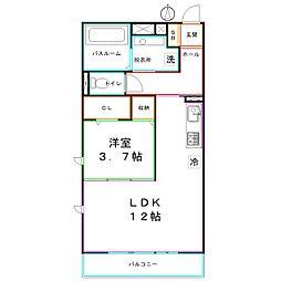 JR中央本線 国分寺駅 徒歩15分の賃貸アパート 1階1LDKの間取り
