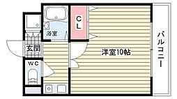 大阪府豊中市西泉丘2丁目の賃貸マンションの間取り