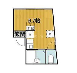 神奈川県横浜市中区上野町1の賃貸アパートの間取り