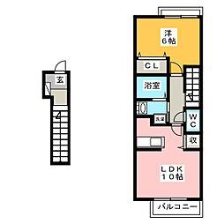 ナッツベリーハウスA[2階]の間取り