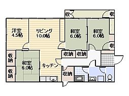 [一戸建] 福岡県宗像市自由ヶ丘11丁目 の賃貸【/】の間取り