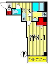 セントハウス横川 6階1Kの間取り
