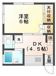 レグラス本八幡[2階]の間取り