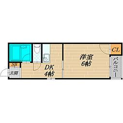 ミヤックス千林[3階]の間取り