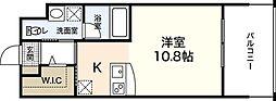 広島電鉄5系統 段原一丁目駅 徒歩21分の賃貸マンション 8階ワンルームの間取り