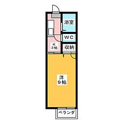 ミレニアムU[2階]の間取り