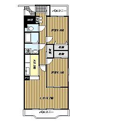 ピュアフィールド新横浜[5階]の間取り