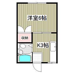 凪ハイツ[203号室]の間取り