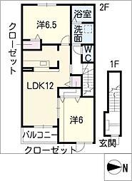 バランス リブラ[2階]の間取り