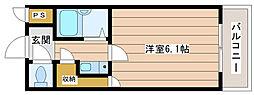 タカノハイム天神橋[9階]の間取り