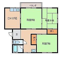 リゾートハウス秋山II[F号室]の間取り