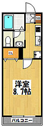 大阪府東大阪市西堤本通西3丁目の賃貸アパートの間取り