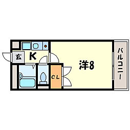 彩華IV[1階]の間取り