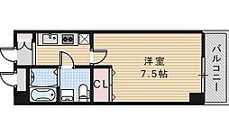 プレミアム西田辺[302号室]の間取り