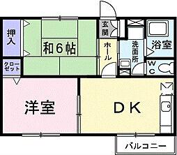 ピュアアネックス[2階]の間取り