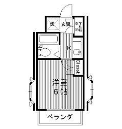 東京都豊島区長崎の賃貸マンションの間取り