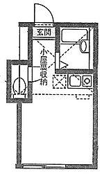 ユナイト大岡プルメリア[1階]の間取り