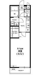 東京都江戸川区春江町3丁目の賃貸アパートの間取り