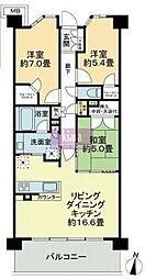 ミソラシア横浜桜ヶ丘[108号室]の間取り