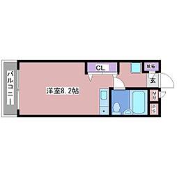 第2赤松コーポ[1階]の間取り