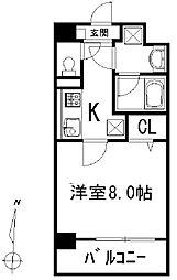 東京都墨田区千歳1丁目の賃貸マンションの間取り