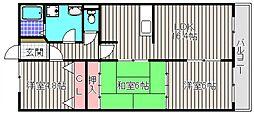 大阪府堺市堺区南陵町4丁の賃貸マンションの間取り