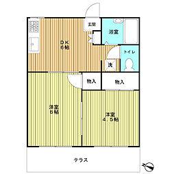 大島ハイツ2階[203号室]の間取り