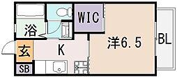 ヴィブレ・メゾン ドゥ[2階]の間取り